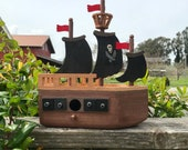 Pirate Ship Bird House