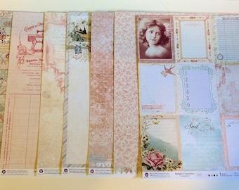 "Prima ""Delight"" 12"" x 12"" cardstock papers"