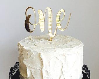 One cake topper Etsy