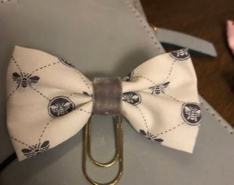 Fabric bow clip