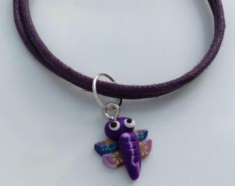Dragonfly Purple Friendship Bracelet