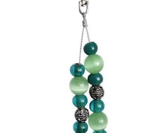 Purse Charm, Beaded Bag Charm, Bag Charm, Keychain Charm, Handbag Charm, Beaded Keychain, Beaded Key Ring, , Green Bag Charm, Bag Dangle