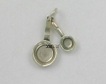 Sterling Silver 3-D Movable Saute Pans Charm