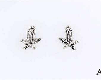 Sterling Silver Flying Eagle Choice - Charm, Post, Dangle Earrings