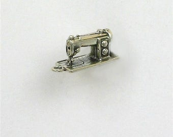Sterling Silver 3-D Sewing Machine Charm