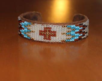 handwoven, ethnic beaded bracelet