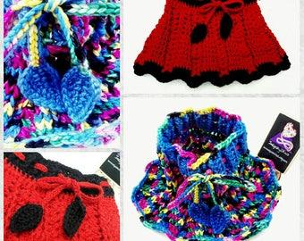 Baby girls skirt **Made to Order** Baby or toddler skirt, flower skirt, crochet cotton skirt, wool skirty