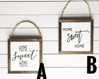Home Sweet Home hanging mini signs