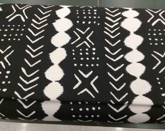 black and white mud cloth print upholstery fabric sold per yard mud cloth print accent