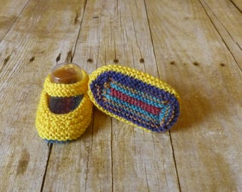 Yellow Crochet Baby Booties