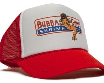 Bubba Gump Shrimp Co Printed Truckers hat cap Forest Gump Adult- Adjustable