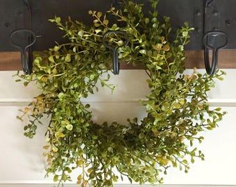 Farmhouse Faux Greenery Wreath | Baby Grass Wreath|Pepper Grass Wreath Farmhouse Wreath | Fixer Upper Style | Small Wreath | Farmhouse Decor