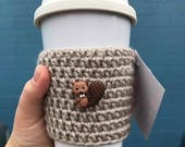 Woodland Creatures - Forest Creatures - Forest Animals - Coffee Cup Holder - Coffee Sleeve - Animal Coffee Sleeve - Raccoon Cup - Squirrel