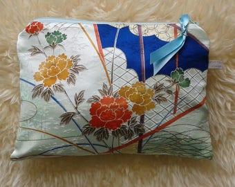 Vintage Kimono wash bag