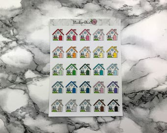 RF023 House Doodle Planner Sticker