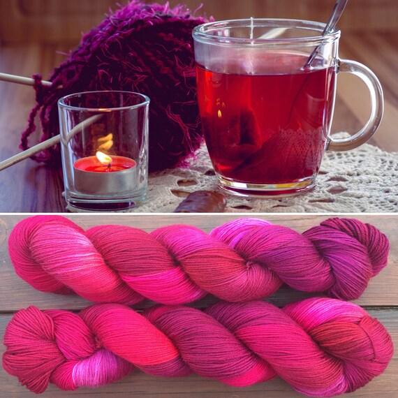 Mulled Wine, 4ply merino nylon indie dyed sock yarn