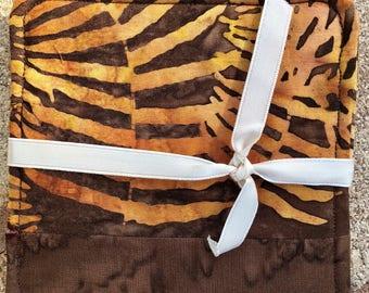 Fall earth tone  Coasters in leaf batik cotton!