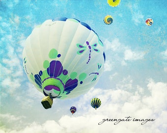 "Discounted 8x10"" hot air balloon photo print - albuquerque balloon fiesta wall art decor"