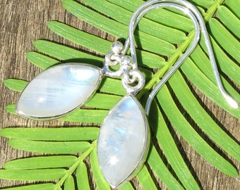 Good Luck, Happiness & Calm Rainbow Moonstone Earrings for New Beginnings and Endings, Balance, Passion, Pregnancy, Fertility and Anxiety!