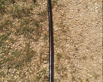 Dark Stained Gloss Oak Staff  -  / hiking stick / walking sticks / trekking poles