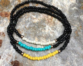 anklets beaded anklets black anklets ankle bracelet turquoise yellow bohemian  custom minimalist yoga beaded women's anklet mens anklet