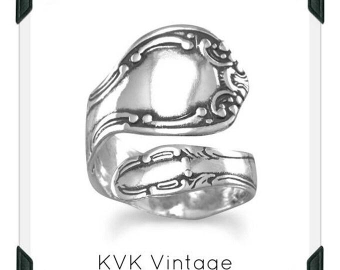 Oxidized Spoon Ring
