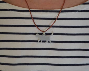 Cat Shaped Pendant Necklace