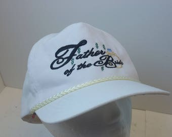 90s Father of the Bride snapback hat cap white