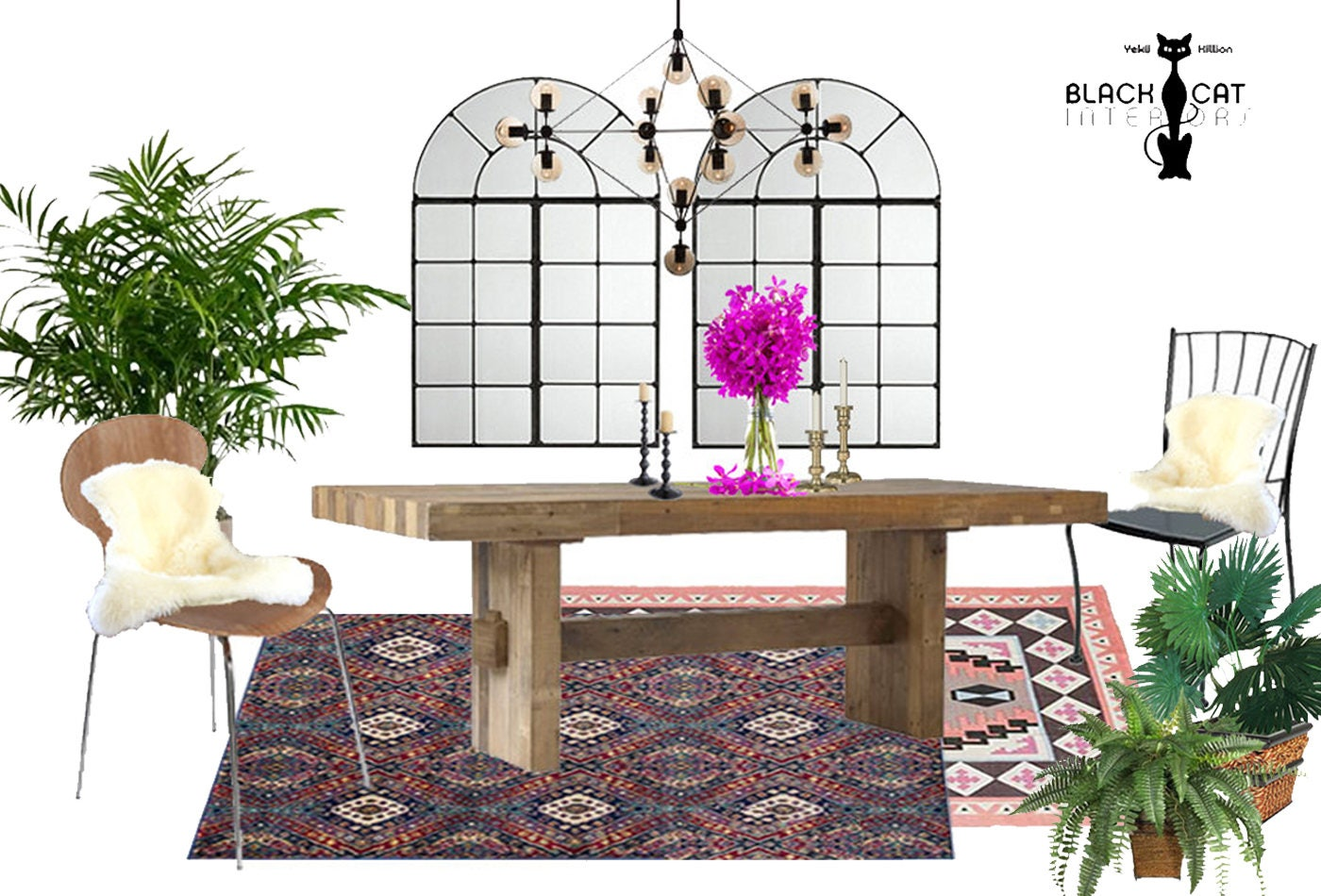 Boho Dining Room Online Interior Design Package Bohemian