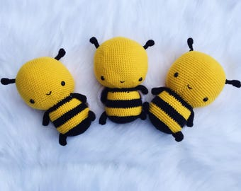 PATTERN Cuddle Sized Bumble Bee Amigurumi Crocheted Honey