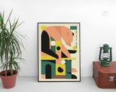 Grizzly Bear 'painted ruins' | digital print | 50x70