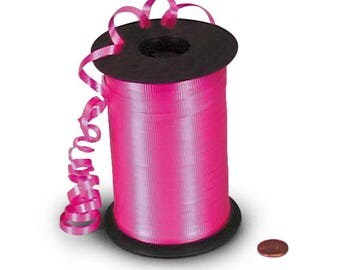 Pink Curling Ribbon 500 yards Pink Gift Wrap Balloon Crimped Ribbon String Girl Party Baby Shower Sweet Sixteen Craft Pink Ribbon