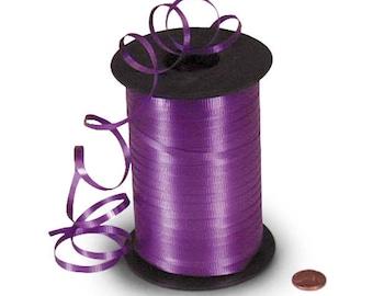 Purple Ribbon 500 yards Deep Purple Ribbon Plum Ribbon Balloon Ribbon Gift Wrap Ribbon Curling Ribbon Craft Purple Ribbon