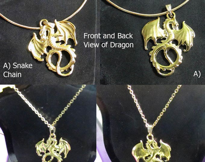 Golden Dragon Chain and Pendant