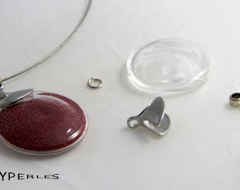 KIT glass 30mm for pendant Choker