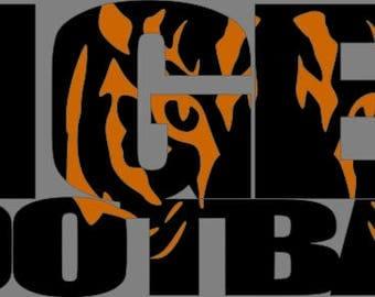 Tiger Football SVG FIle