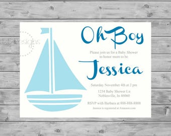 Sailor Baby Shower Invitation