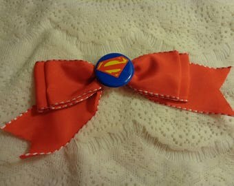 Superman Hair Bow Red
