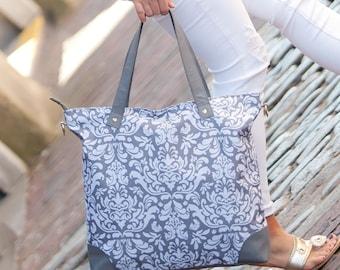 Ella Gray Shoulder Bag*FREE Personalization*Road Trip*College*Monogrammed Bag*Luggage*Carry On*Monogrammed Tote