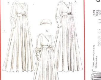 McCall's 5155 Misses' Renaissance Costume Pattern, 16-22
