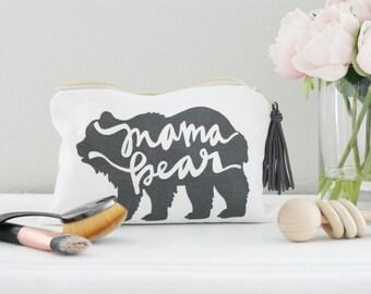 Mama Bear, Mama Bear Makeup Bag, Mama Bear Bag, Mom Life, Mom Life Makeup Bag, Mom Life Bag, #momlife, mom bag,