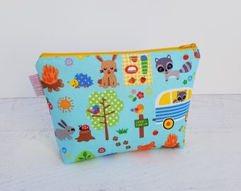Kids Toiletry Bags | Kids Wash Bag | Kids Travel Bag | Small Toy Storage Bag | Kids Project Bag | Small Zipper Bag | Small Zipper Pouch