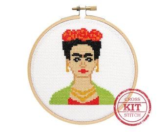 Frida Kahlo DIY Cross Stitch Kit