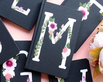 Monogram Journal, Personalized Gift, Bridesmaid Gift, Custom Journal, Floral Notebook, Personalized Gift, Prayer Journal, Bsat Friend Gift