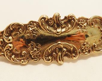 Gold Tone Hair Vintage Barrette or Clip