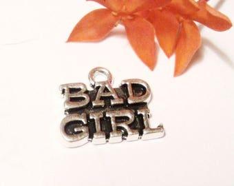 5 Bad Girl Word Charm,Word Charms