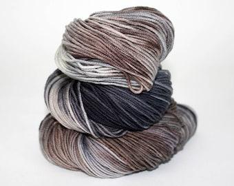 Hand-Painted DK Superwash Merino Wool Yarn - Foggy Sunday Morning