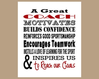 Coach Appreciation Gift, Coach Gift, Coach Thank You, Instant Download