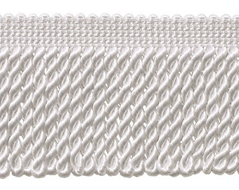 2.5 Inch Bullion Fringe Trim, Style# Ef25 Color: White - A1, Sold By The Yard
