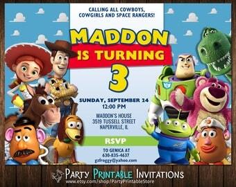 Toy Story Invitation, Toy Story Birthday Invitation, Toy Story Party Invitation, Toy Story Birthday Invite, Toy Story Invitation Digital